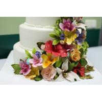 Сахарные цветы для торта, цветы из мастики