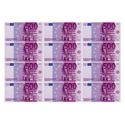 """Вафельный лист """"500 Евро"""" 12 шт"""