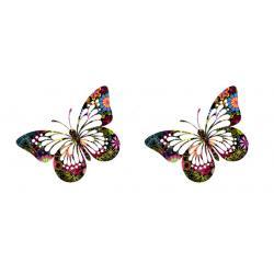 """Вафельные бабочки большие """"Ажурные"""" 8 см (2 шт.)"""