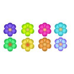 Вафельные цветочки 4 см (8 шт)