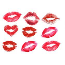 """Вафельные украшения """"Поцелуи"""" 9 шт. (8х6 см)"""