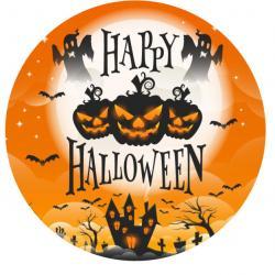 """Съедобная картинка на торт """"Happy Halloween"""" d=20см"""