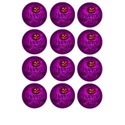 "Съедобная картинка на кекс ""Happy Halloween"" №3 d=6см (12 шт.)"