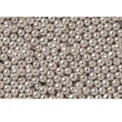 Посыпка кондитерская шарики серебро 8 мм 80 гр