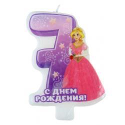 """Свеча-цифра для торта с днем рождения """"7"""""""