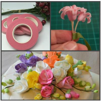 Тейп-лента розовая (№320) 1шт