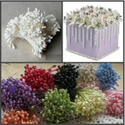 """Тычинки для цветов 240 шт """"Белые"""""""