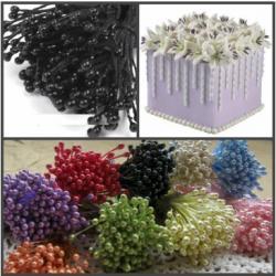 """Тычинки для цветов 240 шт """"Черные"""""""