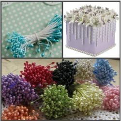 """Тычинки для цветов 240 шт """"Голубые"""""""