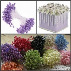 """Тычинки для цветов 240 шт """"Сиреневые"""""""