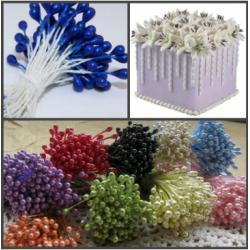 """Тычинки для цветов 240 шт """"Синие"""""""